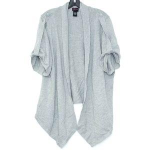 Torrid Cardigan Sweater Waterfall Open Gray 3X I1